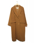 MaxMara(マックスマーラ)の古着「ダブルチェスターコート」|ベージュ