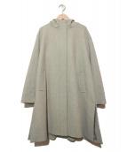 UNITED ARROWS TOKYO(ユナイティッドアローズトウキョウ)の古着「サイドスリットフーデットコート」|グレー