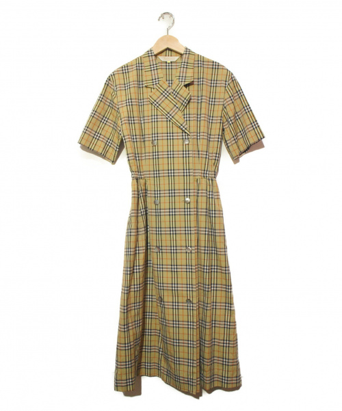 Burberrys(バーバリーズ)Burberrys (バーバリーズ) 90'Sノバチェックワンピース ベージュ サイズ:7ARの古着・服飾アイテム