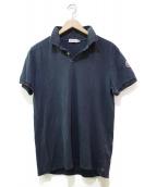 MONCLER(モンクレール)の古着「ウォッシュド加工ポロシャツ」|ネイビー