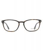 TOM FORD(トム フォード)の古着「セルフフレーム伊達眼鏡」|ブラウン