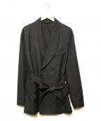 IROQUOIS(イロコイ)の古着「T/Rギャバストレッチガウンジャケット」 ブラック