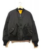 N.HOOLYWOOD×ALPHA(エヌハリウッド×アルファ)の古着「MA-1ジャケット」|ブラック