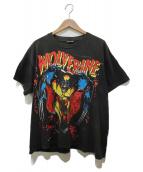 anvil(アンヴィル)の古着「WOLVERINEプリントヴィンテージTシャツ」|ブラック