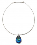 Baccarat(バカラ)の古着「ドロップ型ネックレス」|ブルー