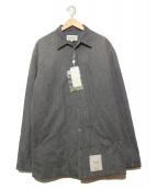 Martin Margiela(マルタンマルジェラ)の古着「中綿入りリサイクルデニムシャツ」 グレー