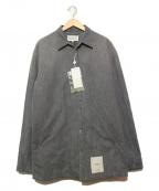 MARTIN MARGIELA(マルタン・マルジェラ)の古着「中綿入りリサイクルデニムシャツ」|グレー
