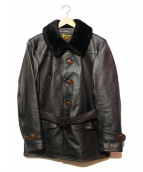 Buzz Ricksons(バズリクソンズ)の古着「レザーコート」 ブラック