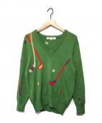 Christian Dior Sports(クリスチャンディオールスポーツ)の古着「ヴィンテージVネックニット」|グリーン
