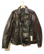 AMERICAN RAG CIE(アメリカンラグシー)の古着「カウレザーダブルライダースジャケット」|ブラック