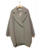 ENFOLD(エンフォルド)の古着「ビーバーコクーンPコート」|グレー