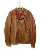 MR.OLIVE(ミスターオリーブ)の古着「シープスキンダブルライダースジャケット」|ブラウン