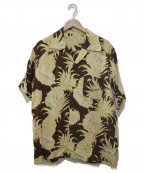 Sun Surf(サンサーフ)の古着「アロハシャツ」|ブラウン×イエロー