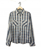 RHC Ron Herman(アールエイチシー ロンハーマン)の古着「チェックネルシャツ」|ネイビー×ホワイト