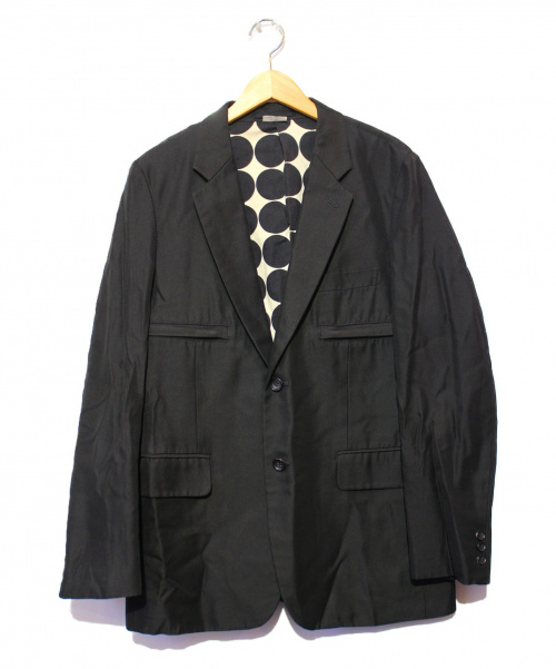 COMME des GARCONS HommePlus(コムデギャルソン オムプリュス)COMME des GARCONS HommePlus (コムデギャルソンオムプリュス) バック切替テーラードジャケット ブラック×ホワイト サイズ:M AD2008の古着・服飾アイテム