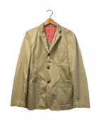()の古着「製品染めピンクステッチテーラードジャケット」 ベージュ