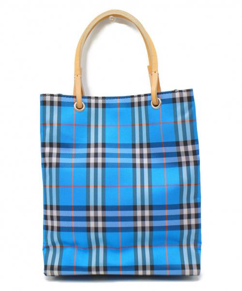 BURBERRY LONDON(バーバリーロンドン)BURBERRY LONDON (バーバリーロンドン) ブルーレーベルチェックミニトートバッグ ブルー サイズ:-の古着・服飾アイテム