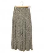 SACRA(サクラ)の古着「レオパードギャザースカート」|ブラック