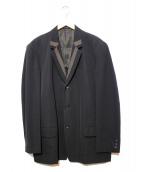 YS for men(ワイズフォーメン)の古着「ウールギャバデザイン3Bジャケット」|ブラック