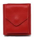 HENDER SCHEME(エンダースキーマー)の古着「3つ折りレザー財布」 レッド