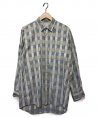 Burberrys()の古着「パネルチェックシャツ」 スカイブルー×パープル