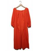 ADORE(アドーア)の古着「コットンラチネワンピース」|オレンジ