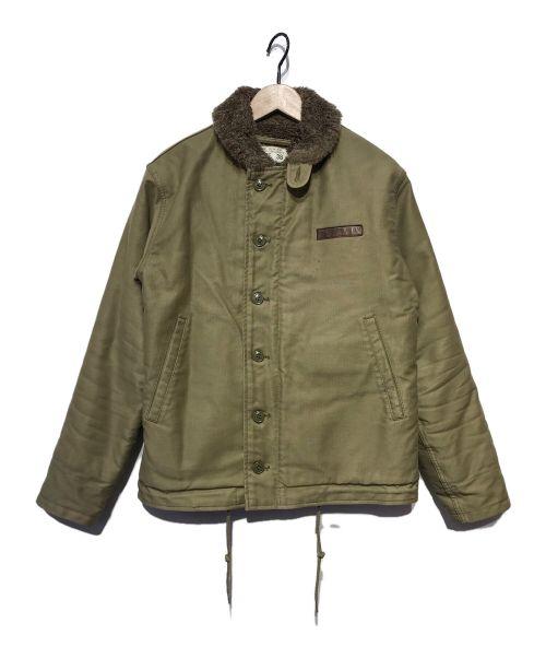 HOUSTON(ヒューストン)HOUSTON (ヒューストン) デッキジャケット オリーブ サイズ:38の古着・服飾アイテム