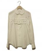 COMME des GARCONS GIRL(コムデギャルソン ガール)の古着「ラウンドカラー ムネフリルシャツ」|ホワイト