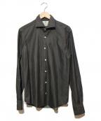 giannetto(ジャンネット)の古着「ホリゾンタルカラーシャツ」|グレー