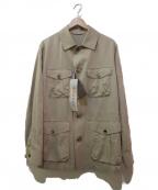 ETONNE(エトネ)の古着「サファリジャケット」|ベージュ