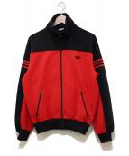adidas(アディダス)の古着「80年代トラックジャケット」 レッド×ブラック