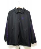 ()の古着「コーチジャケット」|ブラック×パープル