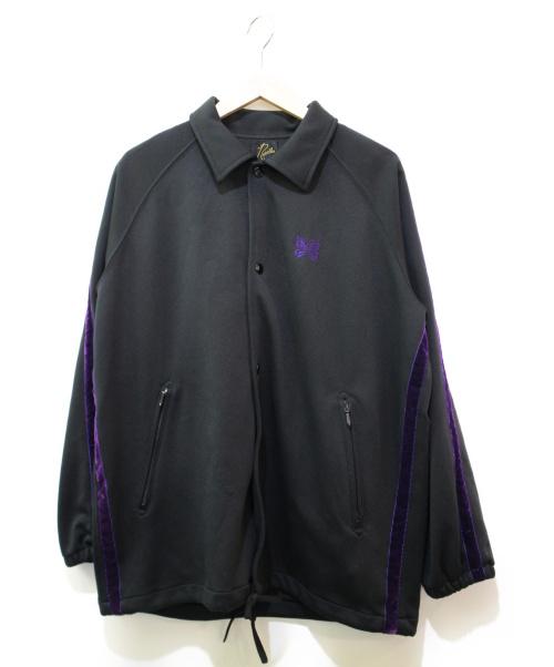 Needles(ニードルズ)Needles (ニードルス) コーチジャケット ブラック×パープル サイズ:S DI182 Side Line Coach Jacの古着・服飾アイテム