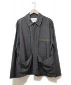 ()の古着「カンガルーポケットオーバーシャツ」|グレー