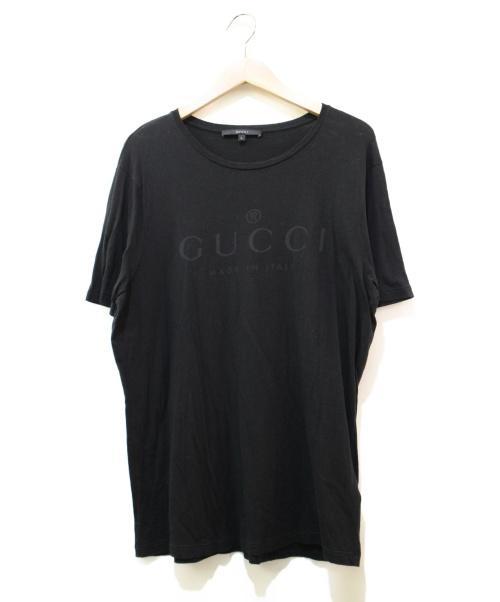 GUCCI(グッチ)GUCCI (グッチ) ロゴカットソー ブラック サイズ:Lの古着・服飾アイテム