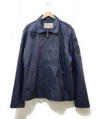 ()の古着「レザージャケット」|ブルー