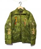 東洋エンタープライズ(トウヨウエンタープライズ)の古着「カモ柄スーベニアキルティングジャケット」|カーキ