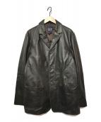 ()の古着「3Bレザージャケット」 ブラウン