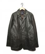 GAP(ギャップ)の古着「3Bレザージャケット」|ブラウン