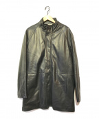 BALLY(バリー)の古着「スタンドカラーラムレザーコート」|ブラック