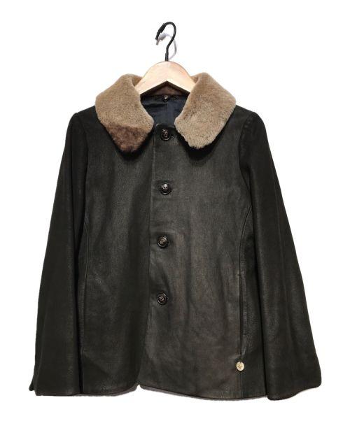 45rpm(45アールピーエム)45rpm (45アールピーエム) ゴートレザージャケット ブラウン サイズ:2の古着・服飾アイテム