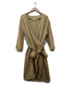 NARA CAMICIE(ナラカミーチェ)の古着「リネンカーディガン」 ベージュ