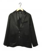 1PIU1UGUALE3 RELAX(ウノピゥウノウグァーレトレリラックス)の古着「切替テーラードジャケット」 ブラック