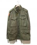 RALPH LAUREN()の古着「ワッペン付きM65ジャケット」|カーキ