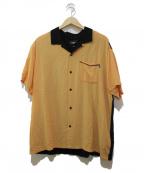 HUF(ハフ)の古着「バックブラフィックオープンカラーシャツ」 オレンジ×ブラック