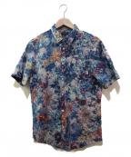 Paul Smith COLLECTION(ポールスミスコレクション)の古着「カーニバルフローラルプリントシャツ」 ネイビー
