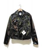Jean Paul GAULTIER(ジャンポールゴルチエ)の古着「エナメルライダースジャケット」|ブラック