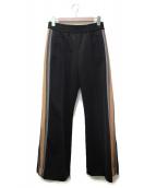 Marc by Marc Jacobs(マークバイマークジェイコブス)の古着「サイドラインフレアトラックパンツ」|ブラック