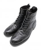 LOVELESS(ラブレス)の古着「ウィングチップブーツ」|ブラック