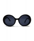 CHANEL(シャネル)の古着「ヴィンテージラウンドサングラス」 ブラック